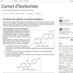 La chimie des plantes: les phytoestrogènes