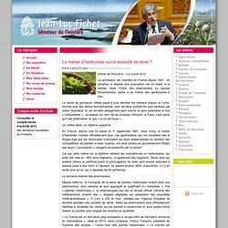 Le métier d'herboriste va-t-il ressortir de terre ? « Jean-Luc Fichet, Sénateur du Finistère