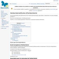 Herboristerie/Écoles d'herboristerie