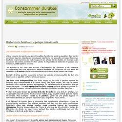 Herboristerie familiale : le potager-coin de santé