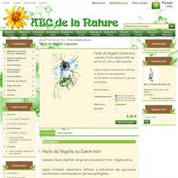 Huile de Nigelle, herboristerie, phytothérapie..