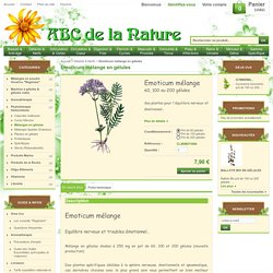 Emoticum mélange en gélules, herboristerie, phytothérapie..