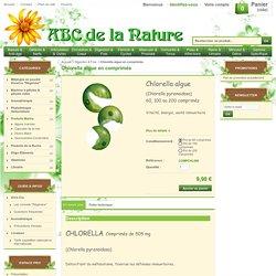 Chlorella algue en comprimés, herboristerie, phytothérapie..