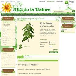 Ortie Absolue mélange mélange en poudre, herboristerie, phytothérapie..