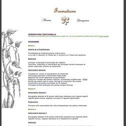 Programme de la formation en Herboristerie Traditionnelle