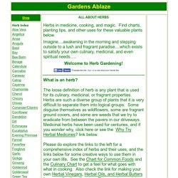 Herbs & Herbal Uses