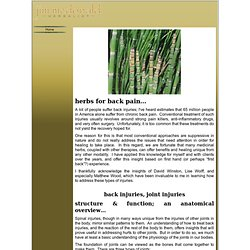 Herbs for back pain