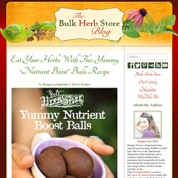 "Eat Your Herbs With This Yummy ""Nutrient Boost"" Balls Recipe"