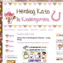 Advice for a Kindergarten Teacher ~ Linky Party
