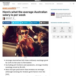 Here's what the average Australian salary is per week