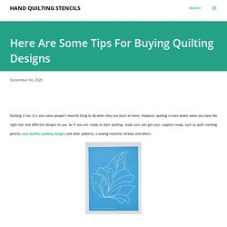 Looking For Easy Feather Quilting Designs