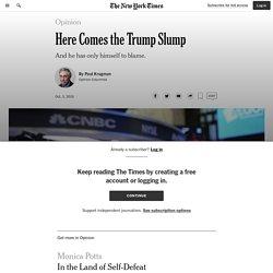 Here Comes the Trump Slump