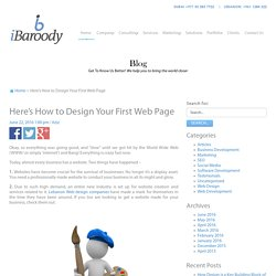 Here's How to Design Your First Web Page