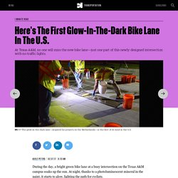 Here's The First Glow-In-The-Dark Bike Lane In The U.S.