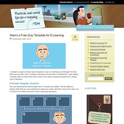 Here's a Free Quiz Template for E-Learning