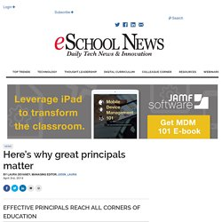 Here's why great principals matter