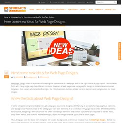 Here come new ideas for Web Page Designs - SaremcoTech