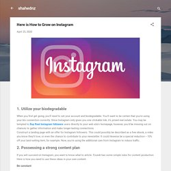 Here is How to Grow on Instagram