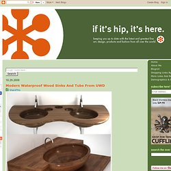 Modern Waterproof Wood Sinks And Tubs From UWD