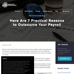 Here Are 7 Reasons to Outsource Your Payroll