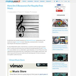 Here Are 5 Resources For Royalty Free Music