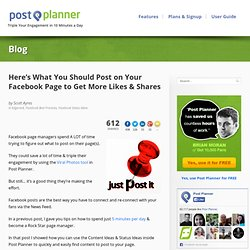 Here's What You Should Post on Your Facebook Page to Get More Likes