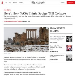 Here's How NASA Thinks Society Will Collapse