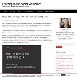 Here are the Top 100 Tools for Learning 2015