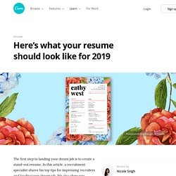 Here's what your resume should look like for 2019 – Learn