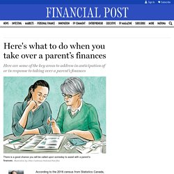 Here's what to do when you take over a parent's finances