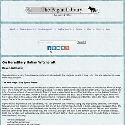 italian witchcraft raven grimassi pdf