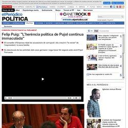 "Felip Puig: ""L'herència política de Pujol continua immaculada"""