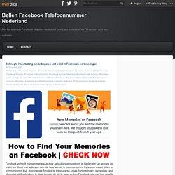 Hoe Facebook-herinneringen beheren?