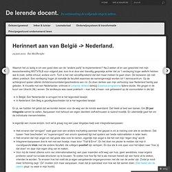 Belgie – Nederland