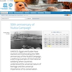 Unesco. 50th anniversary of Nubia Campaign