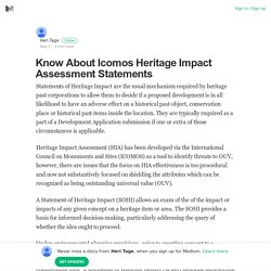 Know About Icomos Heritage Impact Assessment Statements