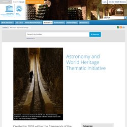 Astronomy and World Heritage Thematic Initiative