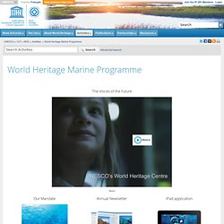 World Heritage Centre - World Heritage Marine Programme