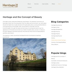 Heritage and the Concept of Beauty - Heritage21