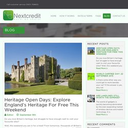 Heritage Open Days: Explore England's Heritage For Free This Weekend
