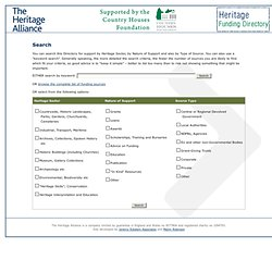 Heritage Funding Directory