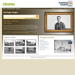 Heritage Images - Homepage - Auckland Libraries