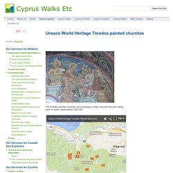 Unesco World Heritage Troodos painted churches - Cyprus Walks Etc