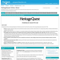 About - HeritageQuest Online - LibGuides at ProQuest