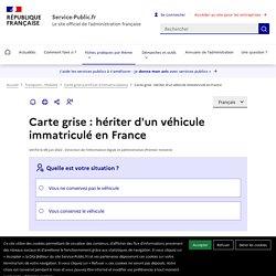 Carte grise : hériter d'un véhicule immatriculé en France