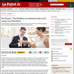"""En France, """"les héritiers se marient entre eux"""", assure un chercheur"""