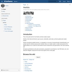 Heritrix - Heritrix - IA Webteam Confluence
