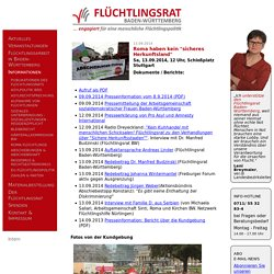 "Roma haben kein ""sicheres Herkunftsland"" - Flüchtlingsrat Baden-Württemberg"