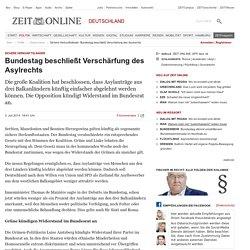Sichere Herkunftsländer: Bundestag beschließt Verschärfung des Asylrechts