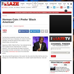 Herman Cain 'Black American' | 999 Would Cost Some People More | Neoconservative | Impossible Dream